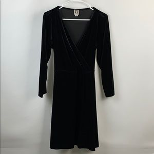 ANNE KLEIN Velvet Black Dress